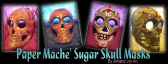 Paper Mache' Sugar Skulls-AVAILABLE